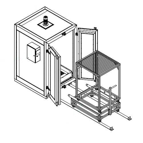 powder coating oven design 1