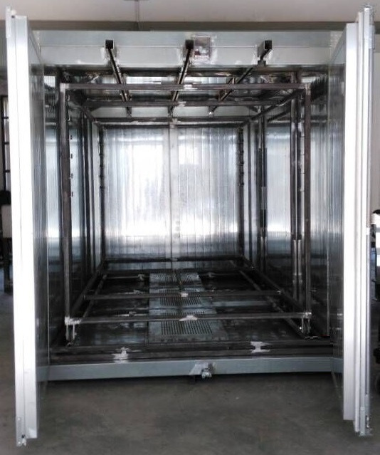 Box Powder Coating Oven with Conveyor Line